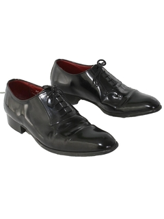 1980's Mens Accessories - Totally 80s Tuxedo Shoes