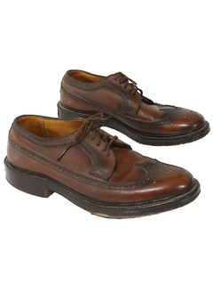 1960's Mens Accessories - Wingtip Leather Shoes