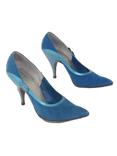 1950's Womens Accessories - Suede Heels Shoes
