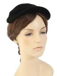 1940's Womens Accessories - Crown Topper Hat