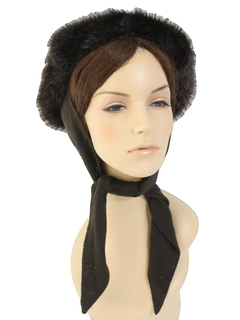 1960's Womens Accessories - Faux Fur Hat