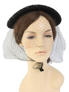 1940's Womens Accessories - Saucer Hat