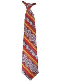 1970's Mens Wide Disco Clip On Necktie