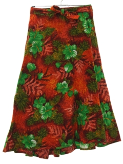 1970's Womens Hawaiian Wrap Skirt