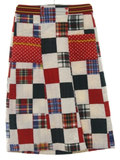 1970's Womens or Girls Patchwork Hippie Skirt