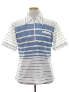 1970's Mens Mod Knit Shirt