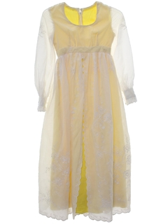 1970's Womens/Girls Hippie Cocktail Dress