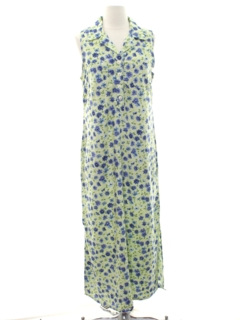 1990's Womens Floral Maxi Dress