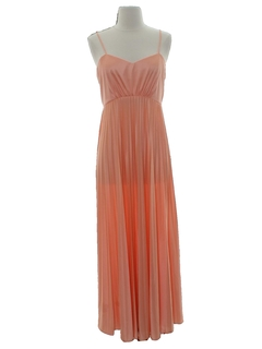 1960's Womens Maxi Disco Dress