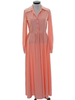 1970's Womens Maxi Lounge Dress