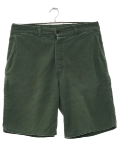1970's Mens Khaki Shorts