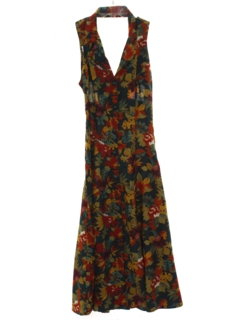 1980's Womens Hawaiian Halter Dress