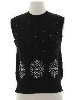 1980's Womens Snowflake Sweater Vest