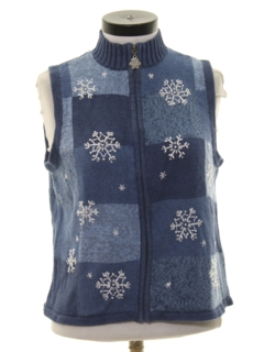 1990's Womens Snowflake Sweater Vest