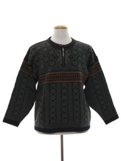 1990's Mens Nordic Style Ski Sweater