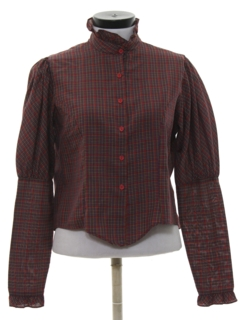 1980's Womens Pioneer Style Prarie Shirt