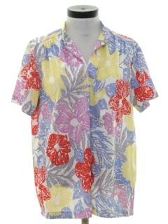 1980's Womens Hawaiian Style Shirt