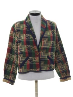 1990's Womens Wicked 90s Equestrian Style Jacket