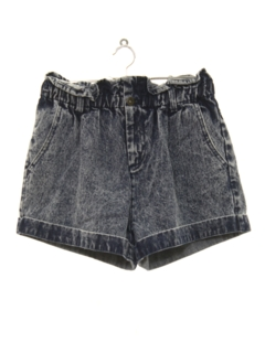 1980's Womens Totally 80s High Waisted Acid Wash Denim Shorts