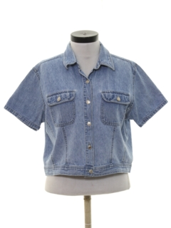 1990's Womens Denim Shirt