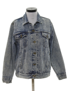 1980's Womens Acid Washed Denim Jacket