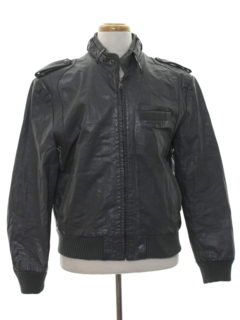 1980's Mens Leather Members Only Style Jacket