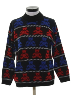 1980's Womens Totally 80s Bear Ski Sweater