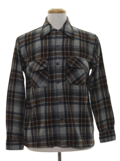 1980's Mens Flannel Board Shirt