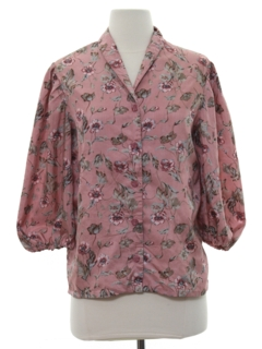 1980's Womens Totally 80s Silk Shirt