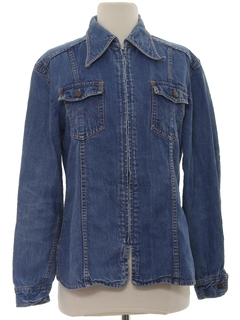1970's Womens Mod Denim Shirt Jacket