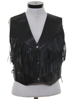 1990's Womens Leather Biker Vest