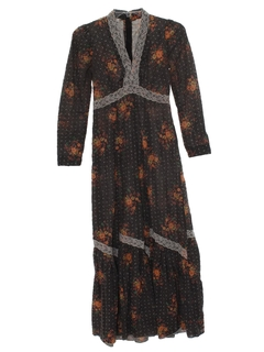 1970's Womens Hippie Prarie Dress