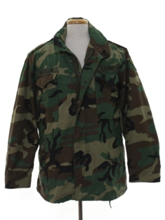 1980's Mens Army Military Field Jacket