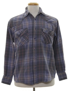 1990's Mens Faded Grunge Western Shirt