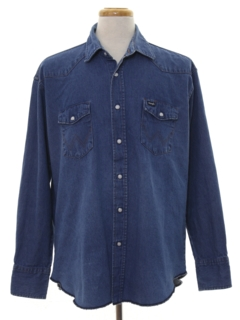 1990's Mens Rodeo Style Denim Western Shirt