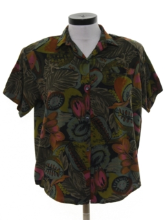 1980's Womens Hawaiian Shirt
