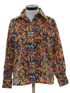 1970's Womens Print Ski Shirt
