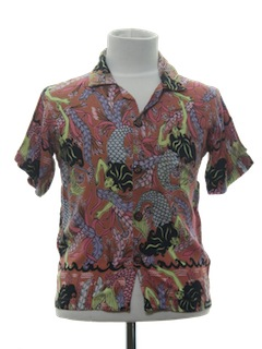 1980's Mens/Childs Hawaiian Shirt