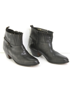1990's Mens Accessories - Mod Leather Ankle Boots
