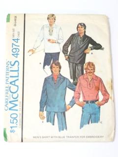 1970's Mens Mod Pattern
