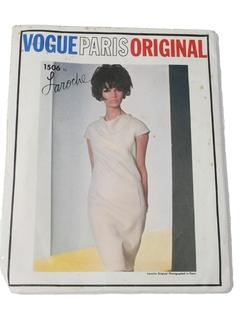 1960's Womens Mod Designer Pattern