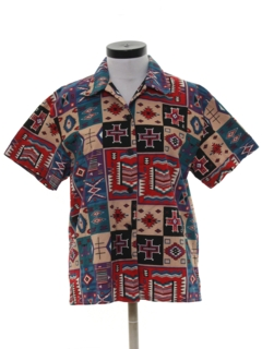 1980's Womens Southwestern Print Shirt