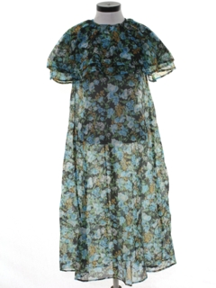 1970's Womens Sheer Hippie Dress