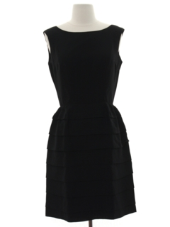 1960's Womens Cocktail Little Black Dress