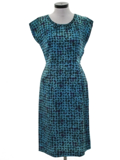 1960's Womens Mod Wiggle Dress