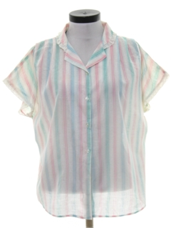 1980's Womens Totally 80s Semi Sheer Shirt