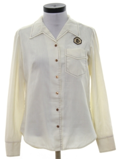 1970's Womens Uniform Work Shirt