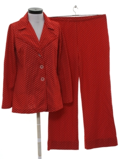 1970's Womens Mod Knit Leisure Suit