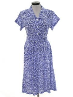 1980's Womens 50s Inspired Dress