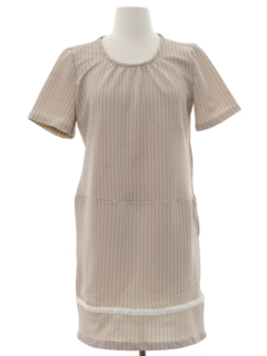 1970's Womens Mod Knit A-Line Mini Dress